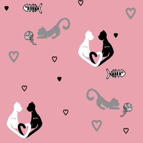 Love Cats in Pink