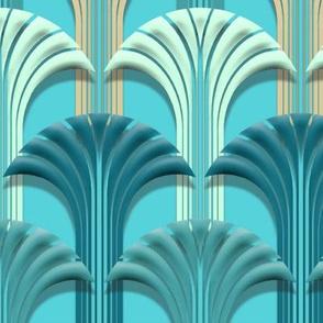 Deco Fan Aqua Blu