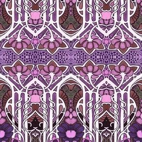 Art Nouveau in Purple Bloom