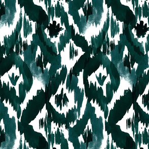 Ikat-Diamonds_dark_green