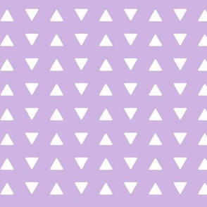(small scale) triangles lilac || the lilac grove collection