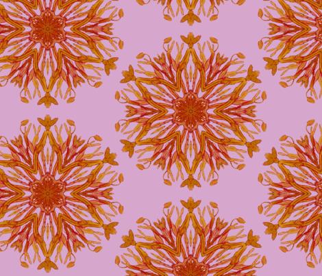 purple seaweed medallion fabric by brianacorrscott on Spoonflower - custom fabric
