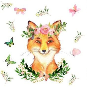 "7"" Woodland Fox in the Spring / White"