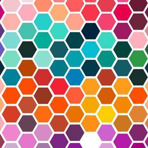color chart hexagons