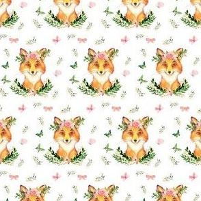 """2"""" Woodland Fox in the Spring / White"""