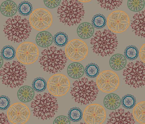 earthy madalas fabric by illustrative on Spoonflower - custom fabric