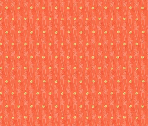 Easter Carrots - Orange fabric by teresamagnuson on Spoonflower - custom fabric