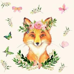 "8"" WOODLAND FOX / IVORY"
