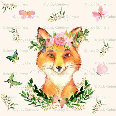 "6"" WOODLAND FOX / IVORY"