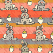 Easter Bunny Stripes Orange
