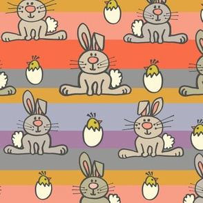 Easter Bunny Stripes Solid