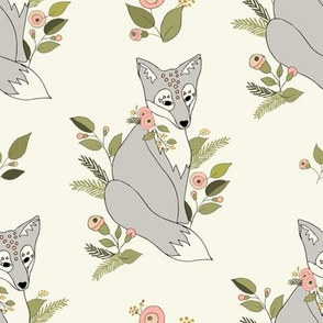 Flower Fox Silver - Ivory