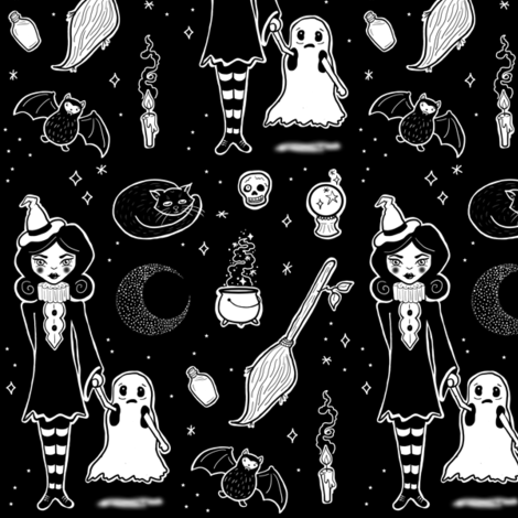 witch is witch fabric by thequirkyquince on Spoonflower - custom fabric