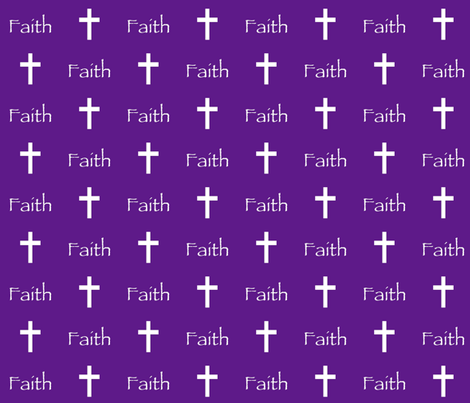 Faith // Purple fabric by thinlinetextiles on Spoonflower - custom fabric