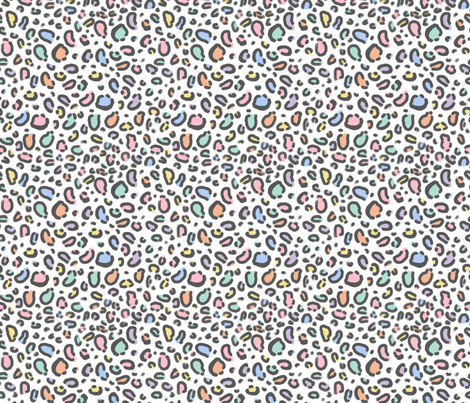 pastel rainbow leopard print fabric fabric by charlottewinter on Spoonflower - custom fabric
