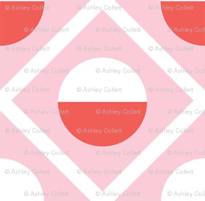 Geometric Diamond Circle Pink & Red
