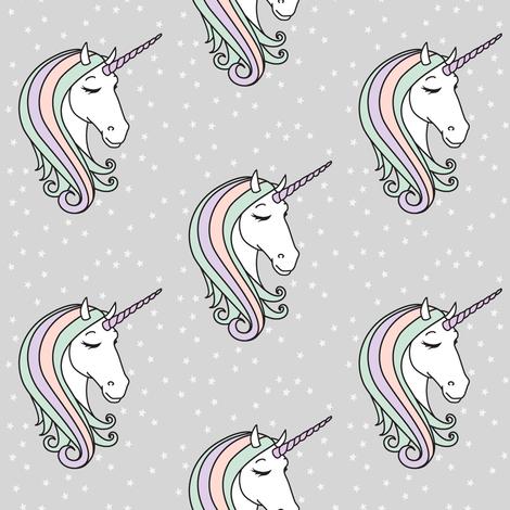 unicorn || pastel fabric by littlearrowdesign on Spoonflower - custom fabric