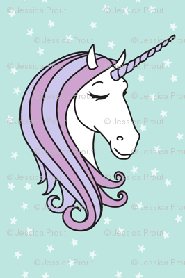 unicorns || purple on blue