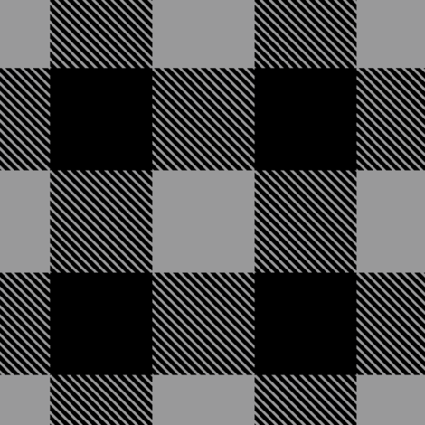 Buffalo Plaid // Grey fabric by buckwoodsdesignco on Spoonflower - custom fabric