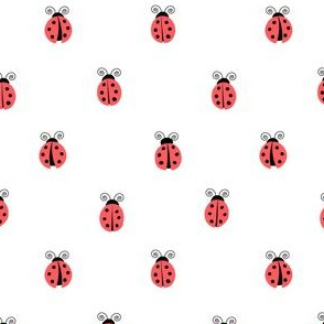 ladybug || red on white
