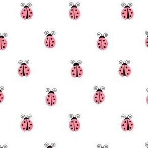 ladybug || pink on white