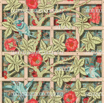 The William Morris Collection ~ Birds On A Trellis ~ Layers on Regal