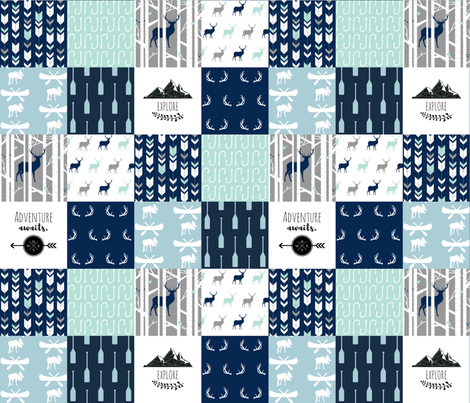 WILD_LAKE_Cheater_Quilt fabric by buckwoodsdesignco on Spoonflower - custom fabric