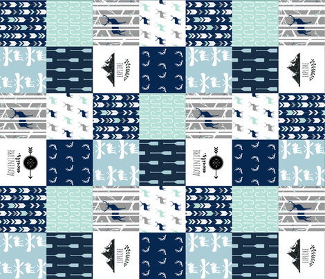 WILD_LAKE__rotated_90__Cheater_Quilt fabric by buckwoodsdesignco on Spoonflower - custom fabric