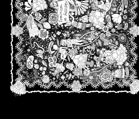 forest_totelayout_bnw fabric by an_erin on Spoonflower - custom fabric