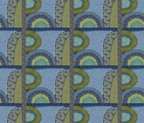 greens fabric by kimmurton on Spoonflower - custom fabric