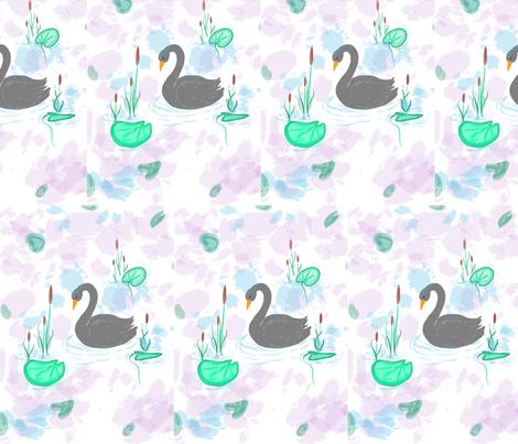 Swan Life fabric by renamariedesign on Spoonflower - custom fabric