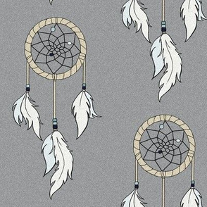Dream catchers - tan and grey, blue beads