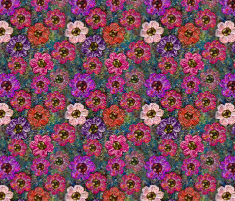 Crochet Garden fabric by nezumiworld on Spoonflower - custom fabric