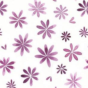 watercolor flower pink purple