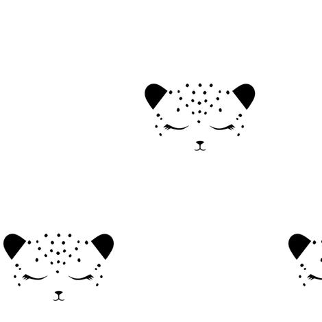 Cheetah Black & White fabric by kimsa on Spoonflower - custom fabric