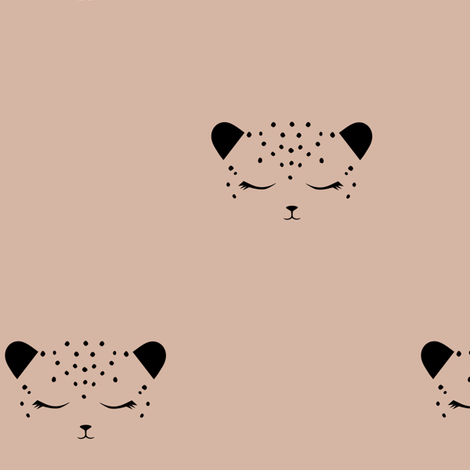 Cheetah - Almond fabric by kimsa on Spoonflower - custom fabric