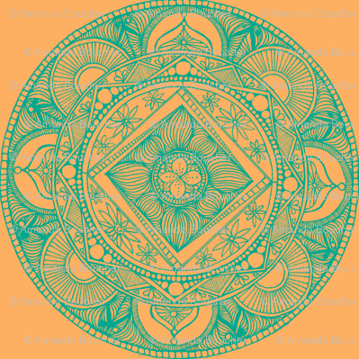 Peach and Moss Mandala-ch