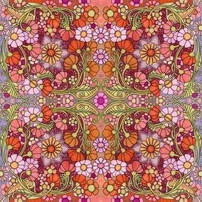 Retro Sixties Floral Fandango