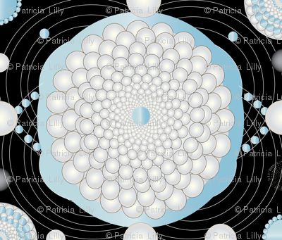 Pearl & Aquamarine Circles