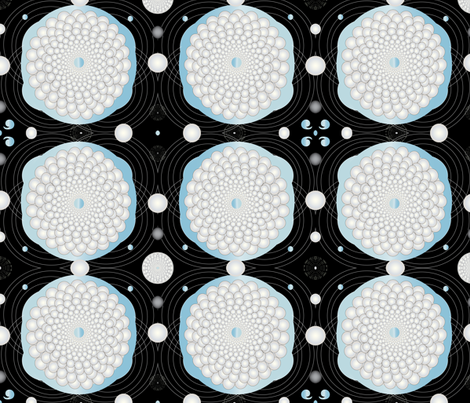 Pearl & Aquamarine Circles fabric by gracelillydesigns on Spoonflower - custom fabric