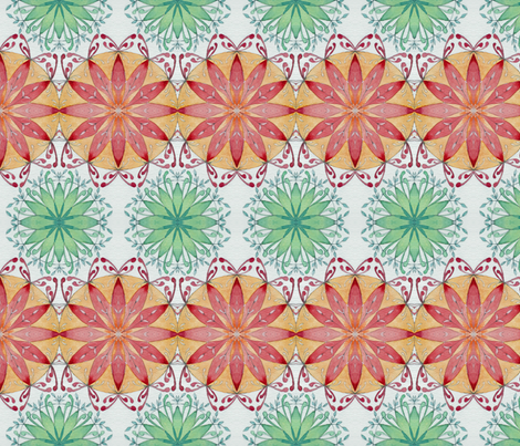 mandala pair fabric by fallingladies on Spoonflower - custom fabric