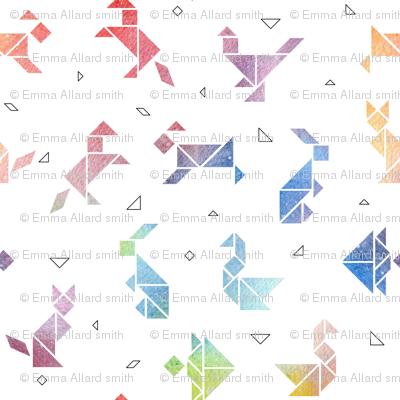 Watercolour Animal Tangrams