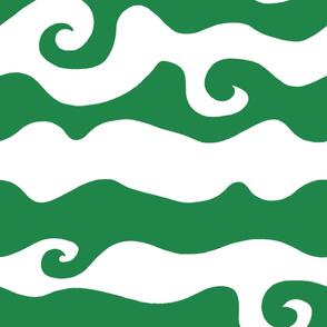 Swirly Wave - greeny