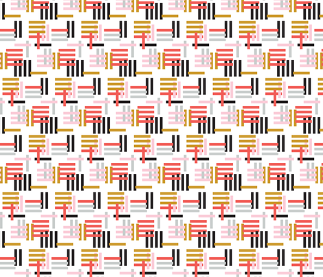 Stripey Block fabric by acdesign on Spoonflower - custom fabric