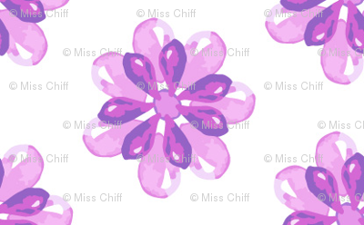 Easter Floral Watercolor Purple Lilac_Miss Chiff Designs