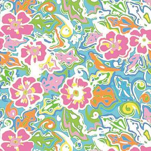 hibiscus bright artistic