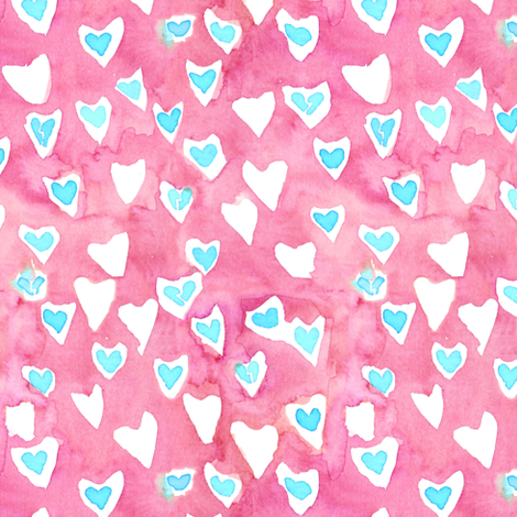 broken hearts 3 fabric by erinanne on Spoonflower - custom fabric