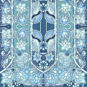 Doing the Art Nouveau Flower Paisley Blues
