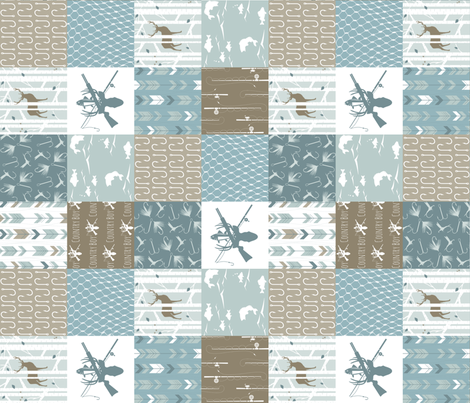 Country_Boy__rotated_90__Cheater_Quilt fabric by buckwoodsdesignco on Spoonflower - custom fabric