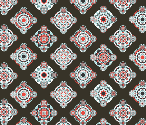 Retro Mandala Delight fabric by onelittleprintshop on Spoonflower - custom fabric